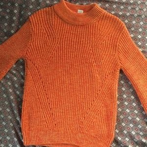 H and M orange knitted sweater